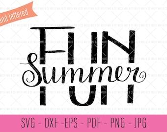 Summer SVG Files, Hand Lettered SVG Files, SVG Cut Files, Hand Lettered Clipart, Svgs Commercial License, Clipart Commercial License, Cricut