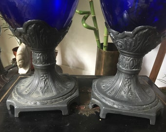 Pair of Royal Blue vases