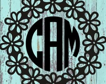 Floral Monogram Decal/Floral/Monogram/Monograms/Tumblers/Tumbler Decals