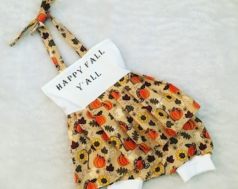 Fall, baby,Halloween, dress, Shorties, cotton diaper cover,  nb, size 3, 6, 9, 12, 24 months, 2T