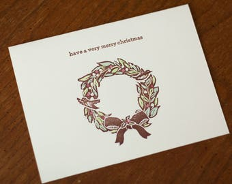 Very Merry Christmas Greeting Card