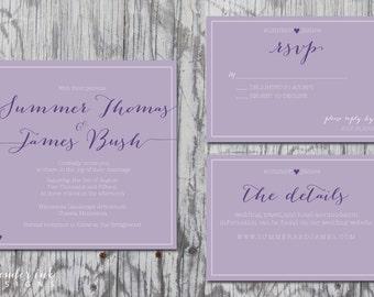 Custom Wedding Invitation - Wedding Colors