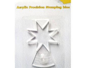 Acrylic block for stamp round clear 6, 5 x 9, 5 cm_APSB001