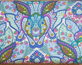 Tula Pink The Hare in Blue Raspberry Rabbit Bunny Slow and Steady Freespirit Fabrics