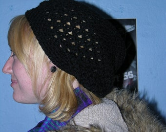 Black Tam\/Beret One Size Fits All