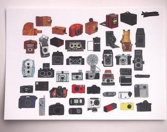 Camera compilation Print