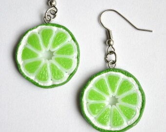 Lime Earrings - Gifts for her