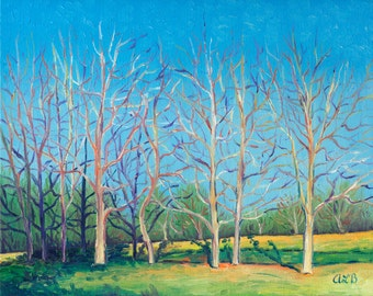 Giclee print, Early Spring at the Arboretum, 8 x 10 in.