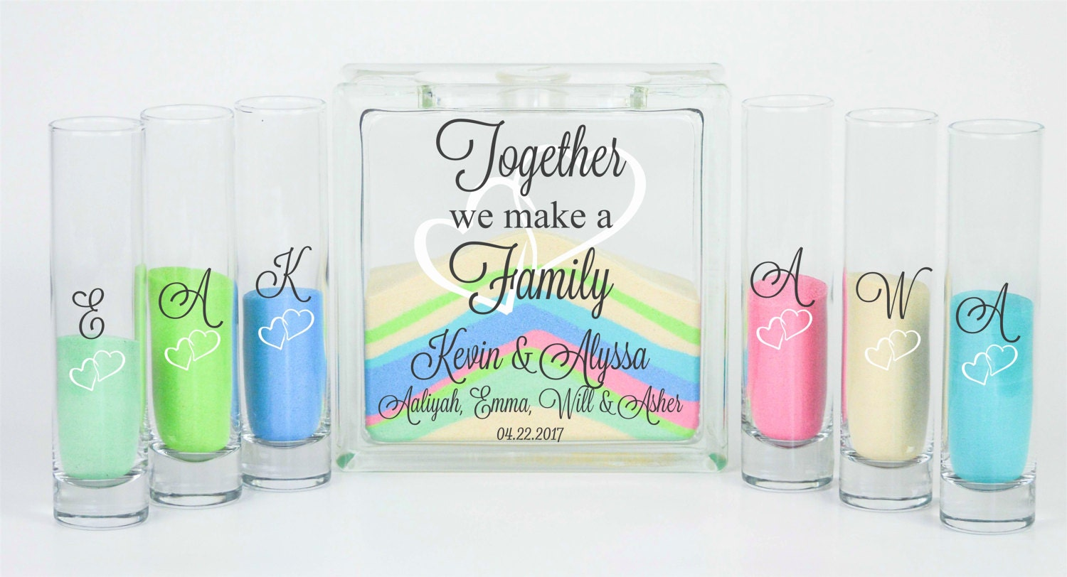 Blended family wedding sand ceremony jar with lid unity description blended family wedding sand ceremony reviewsmspy