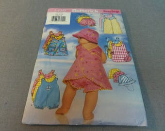 Baby Infant Rompers, Jumper, Panties and Hat, Size NB, S, M, Uncut, Butterick 5439, 1998