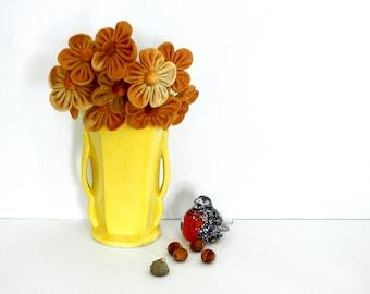 Vintage Yellow McCoy Pottery Vase