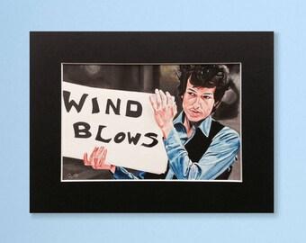 BOB DYLAN wall art - giclee print of 'Homesick Bob' acrylic painting by Stephen Mahoney - artwork inspired by Bob Dylan music video