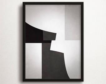 Geometry Poster, Large Poster, Contemporary Art, Scandinavian Print, Black & White, Geometric, Instant Download, Minimalistic Art, Wall Art