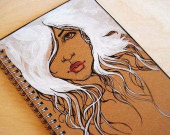 Notebook White Hair and Ruby Lips