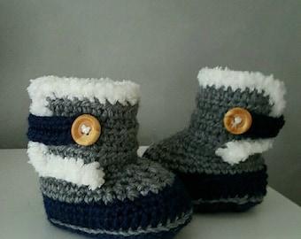 Slipper boots baby 0-3 months.