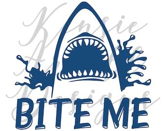 Bite Me Monogram Addition for Dog Bandana - Matte, Glitter & HOLO Options
