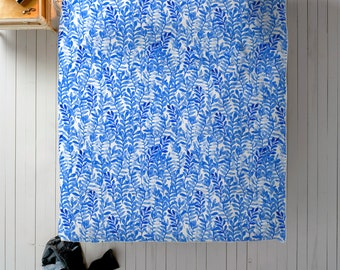 Blue Floral Duvet Cover - Watercolor Duvet Cover King, Queen or Twin for Blue Decor