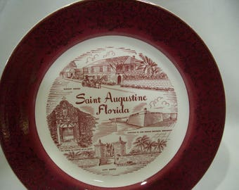 Saint Augustine Florida Plate,Florida State Plate,City Gate,Castillo De San Marcos National,The Shine of Puestra