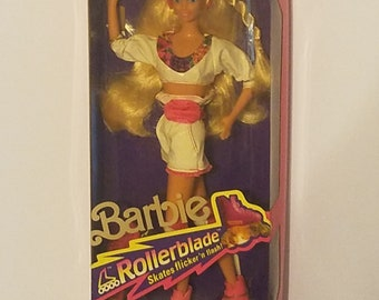 1991 Mattel Barbie Blonde Rollerblade #2214 Never removed from box