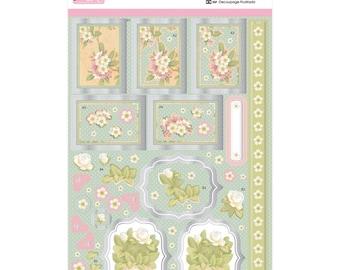 Anita's A4 Foiled Decoupage Sheet Oriental Flowers A169651
