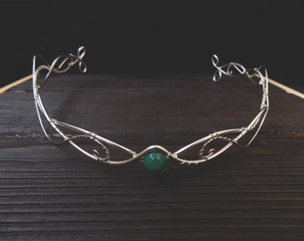 Silver Elven Circlet - Elven circlet - Elven Headpiece - Elven Crown - Wedding - Fairy - Elven Headdress - Princess - Renaissance Circlet