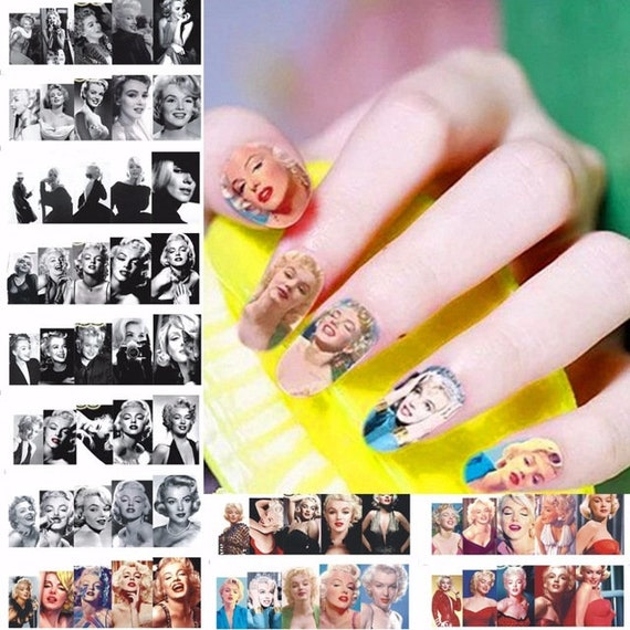 Nail Art Water Decals Stickers Transfers Marilyn Monroe Retro ...