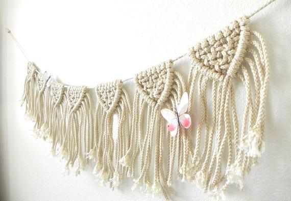 Wimpel Girlande Macramé Wand hängen moderne Macramé-Banner