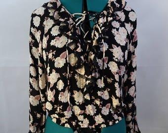 Floral Pink/Black longsleeve top