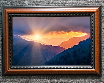 "Framed Smoky Mountains Sunset Fine Art Photo from William Britten ""After the Storm"""