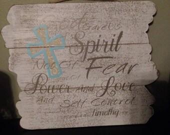 2nd Timothy 1:7 Wall Decor