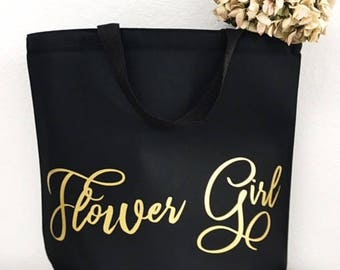 Flower girl gifts - Gold foil - Flower girl - Tote