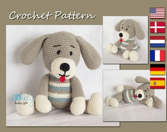 CROCHET PATTERN - Amigurumi Pattern, Amigurumi Toy, Dog, Animal Pattern Crochet, Amigurumi Dog, CP-124