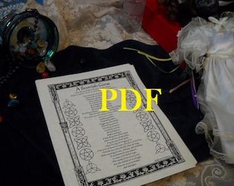 Scottish Curse PDF -- Book of Shadows -- BOS page