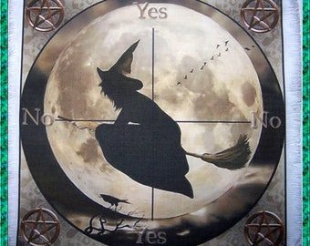 Witch Scrying Mat, Dowsing wiccan Magic Divination.