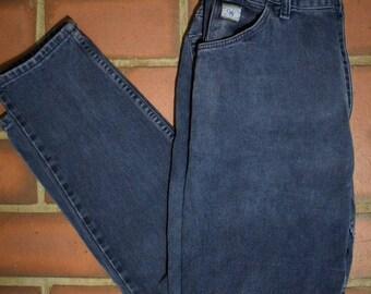 Vintage Women's Wrangler Dark Blue Jeans, Vintage Denim. Vintage jeans