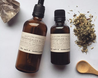 HERBAL DREAM OIL ~ Mugwort, Bush Fuschia, Passionflower & Lavender Spiritual Body Oil