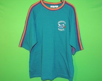 VTG Charlotte Hornets In The Paint Men's Size XL Extra Large NBA Basketball Heavy Crewneck T Shirt