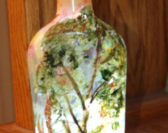 Tree and Forrest nightlight bottle!  Love nature?  Perfect nightlight for garden or home!