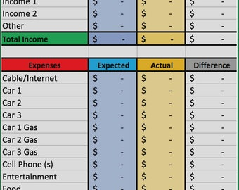 Simple Excel Budget Spreadsheet