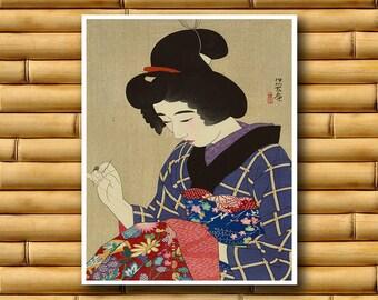 Japan Travel Poster Japanese Wall Art Retro Decor Asian Print (J83)