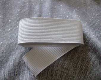 x 1.5 meter white ribbed elastic 3 cm wide