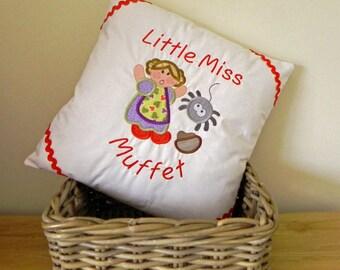 Little Miss Muffet Nursery Rhyme Cushion