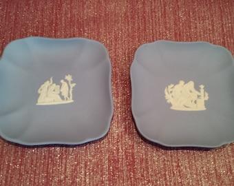 Pair of Square Jasperware Plates