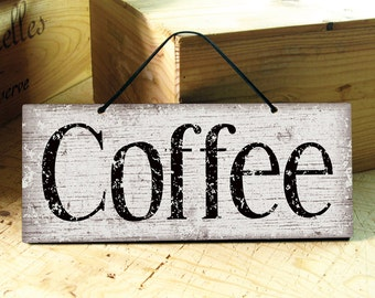 Coffee Sign. Rustic Coffee Signs. Coffee Shop Decor. Coffee Shop Sign. Restaurant Decor. Rustic Kitchen Sign. COFFEE. Ready to Ship