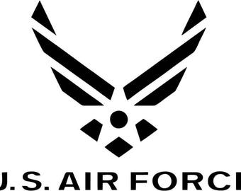 US Air Force Logo - Vinyl Car Window and Laptop Decal Sticker