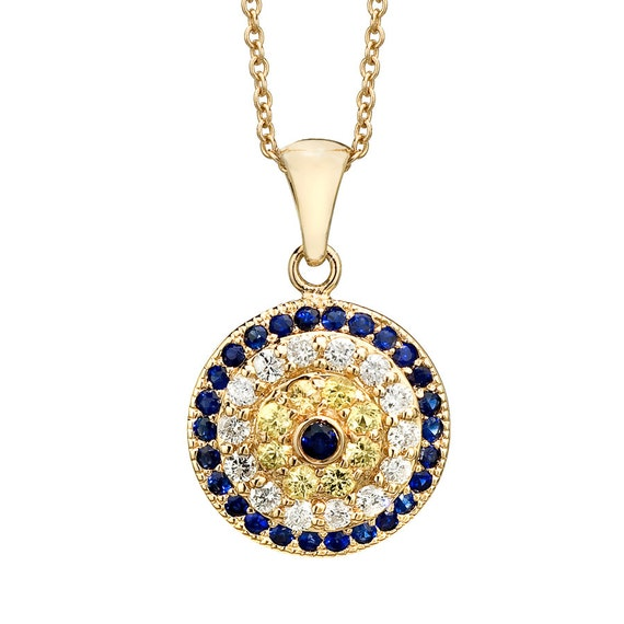 Gold Evil Eye Necklace Evil Eye Necklace Evil Eye Protection