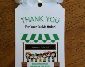 Girl Scoot Cookie Tags-Special Order