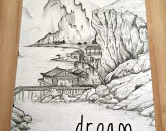 Double-sided - Dream - original design greeting card