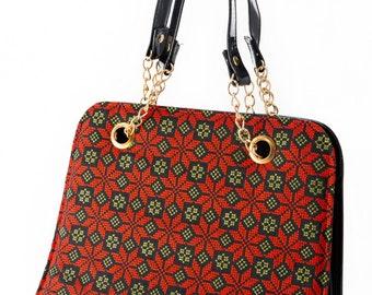 Ladies handbag with Palestinian Embroidery