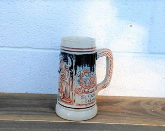 Vintage Western German Beer Stein - German Mug - Beer Mug - Craft Brewery